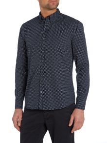 Peter Werth Henshall polka dot button down shirt