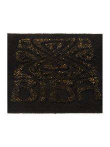 Biba Gold Fleck Logo Bath Mat in Black