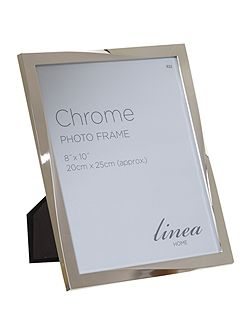 Chrome plated twist design photo frame 8x10