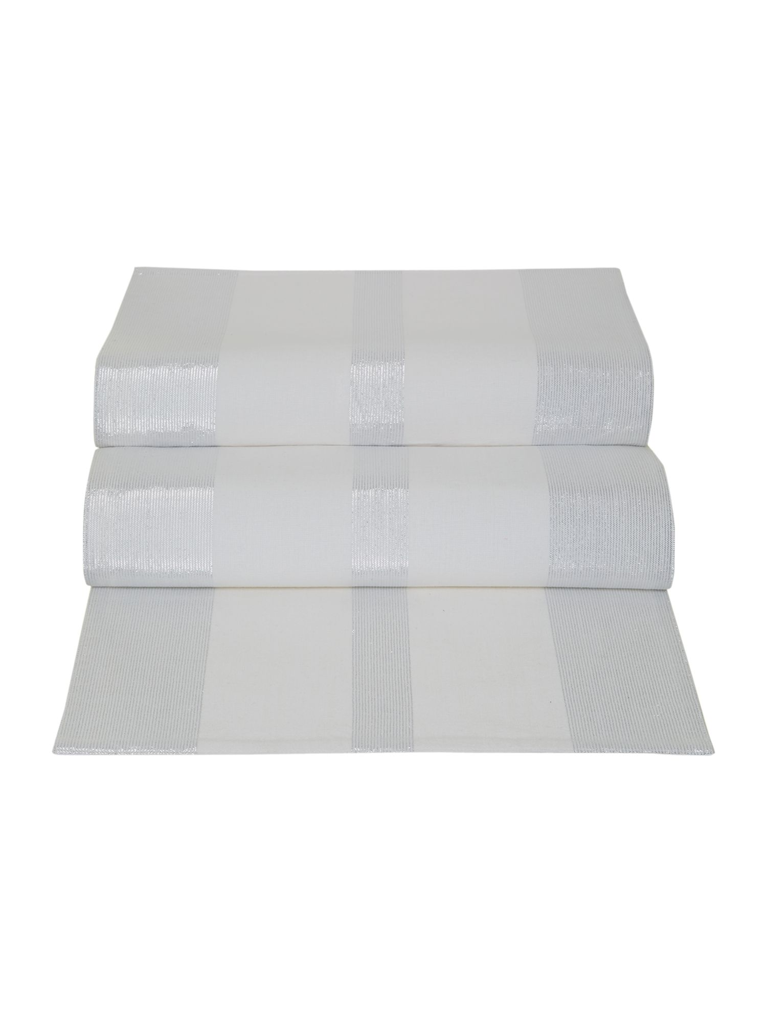 White sparkle panel table runner