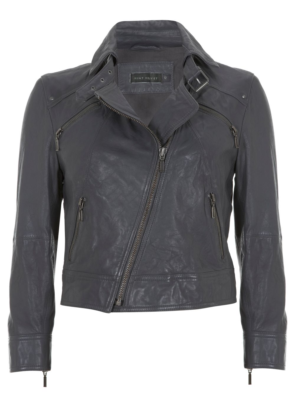 Storm cropped leather jacket