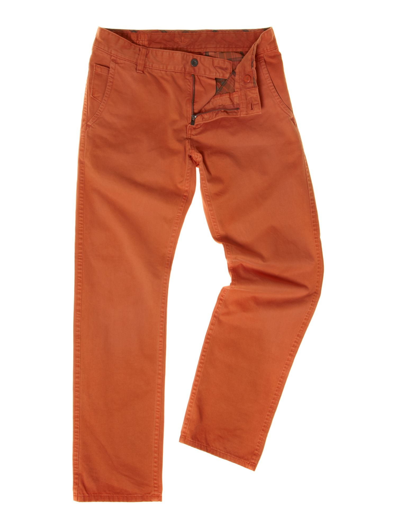 Alpha 1 year washed straight fitted chino trousers