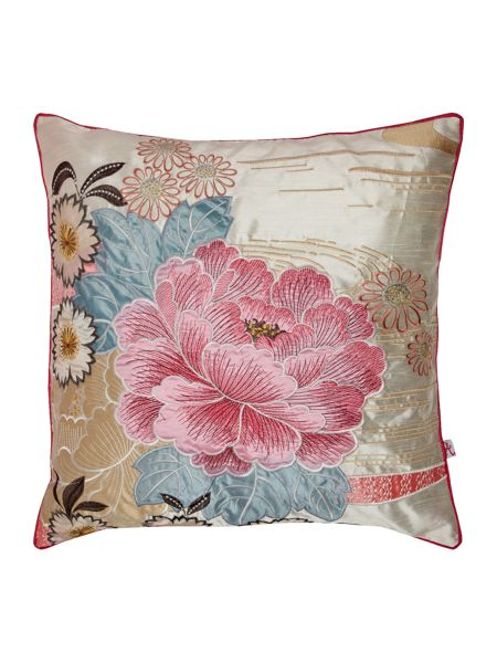 Accessorize Oriental flower embroidered cushio
