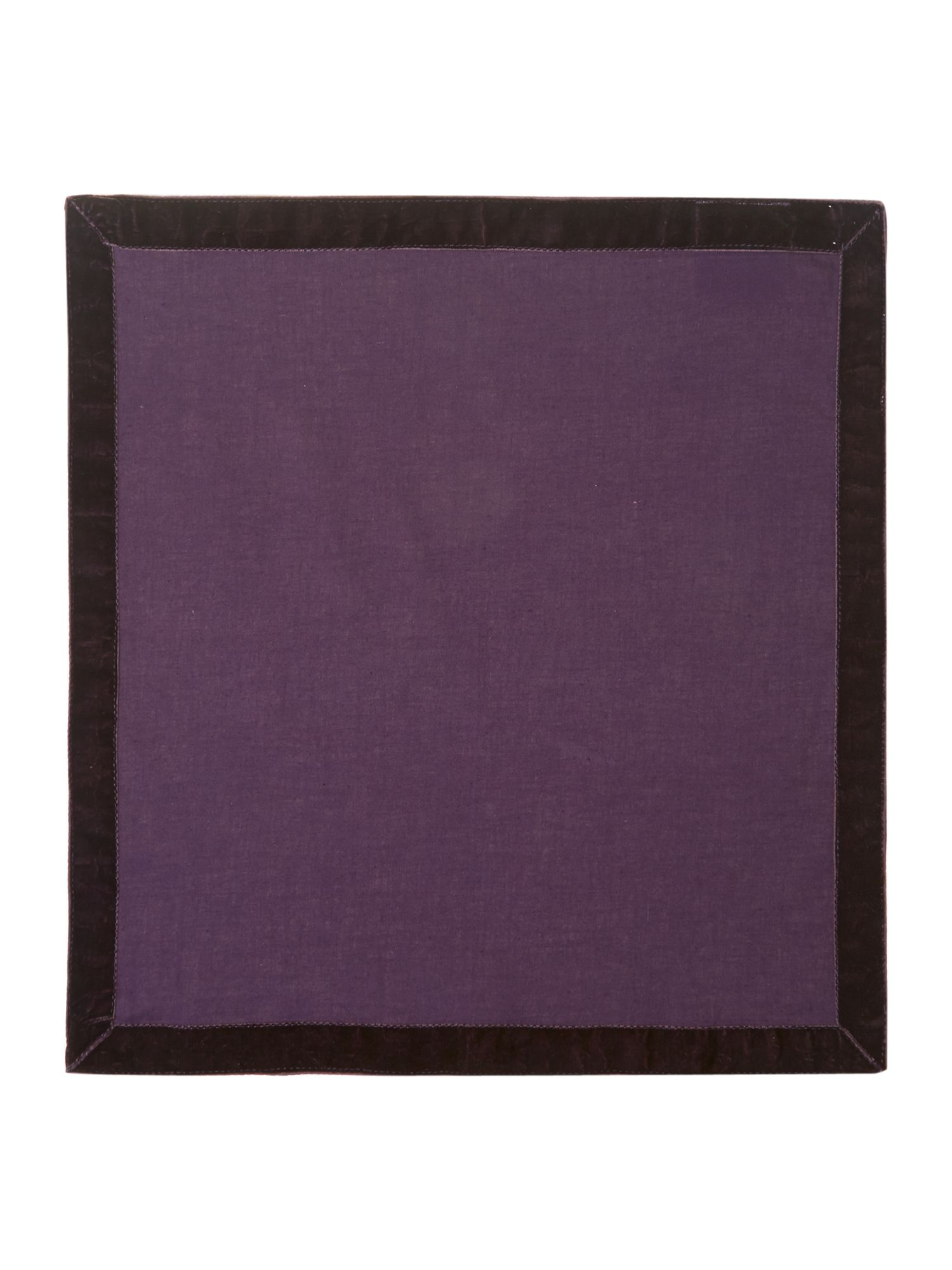 Purple trim napkin