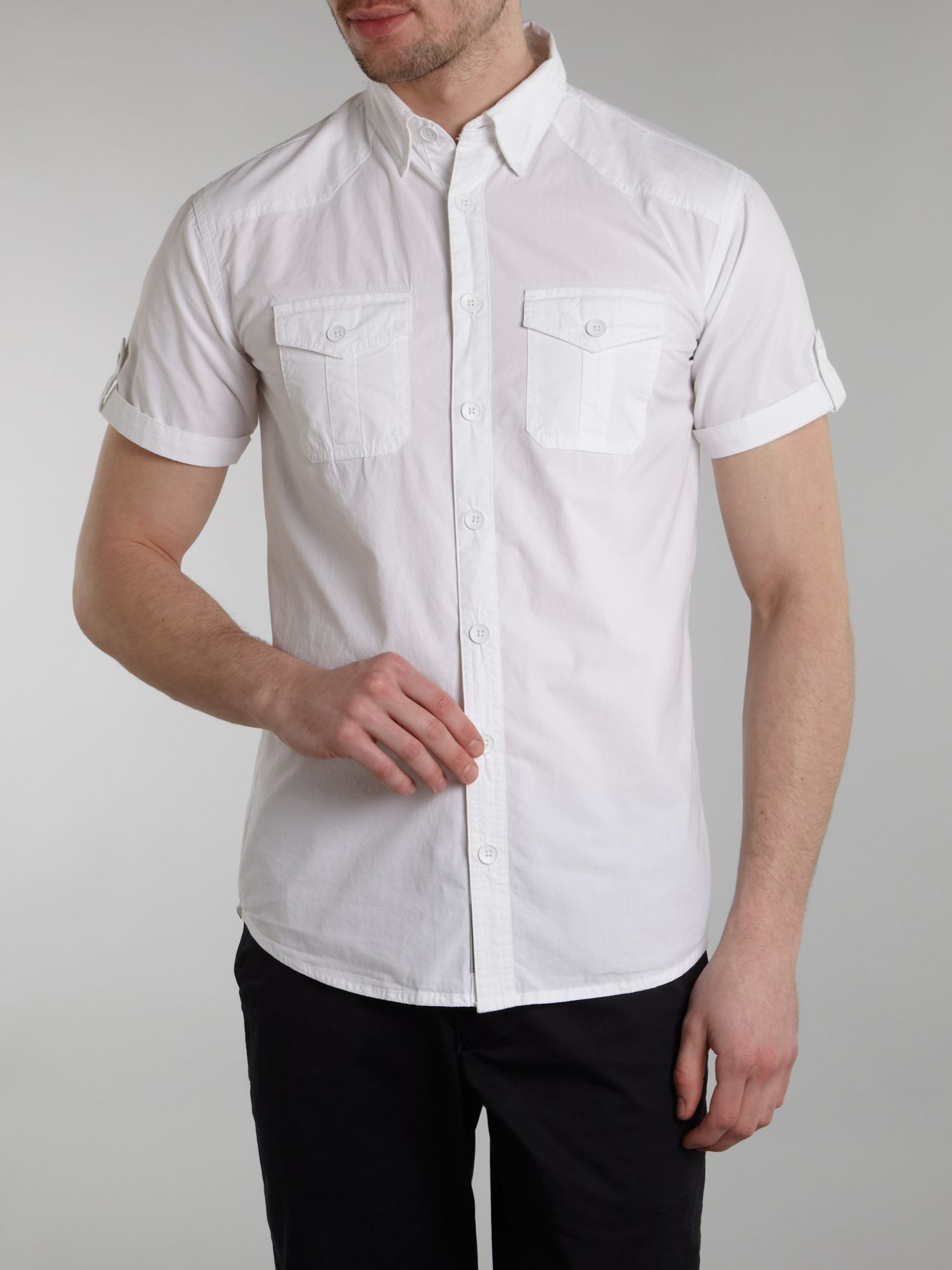 Two pocket short sleeved shirt
