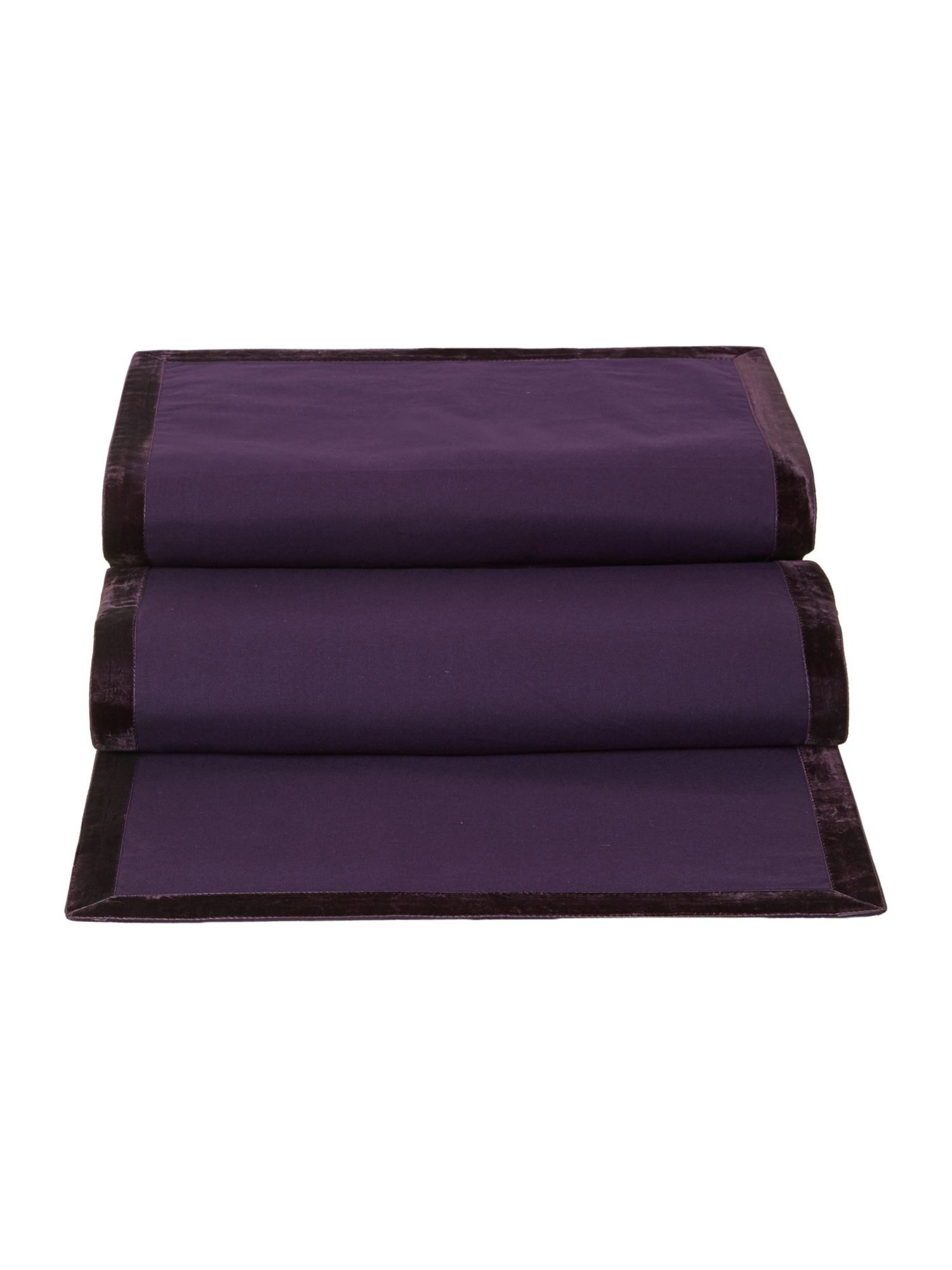 Purple trim table runner