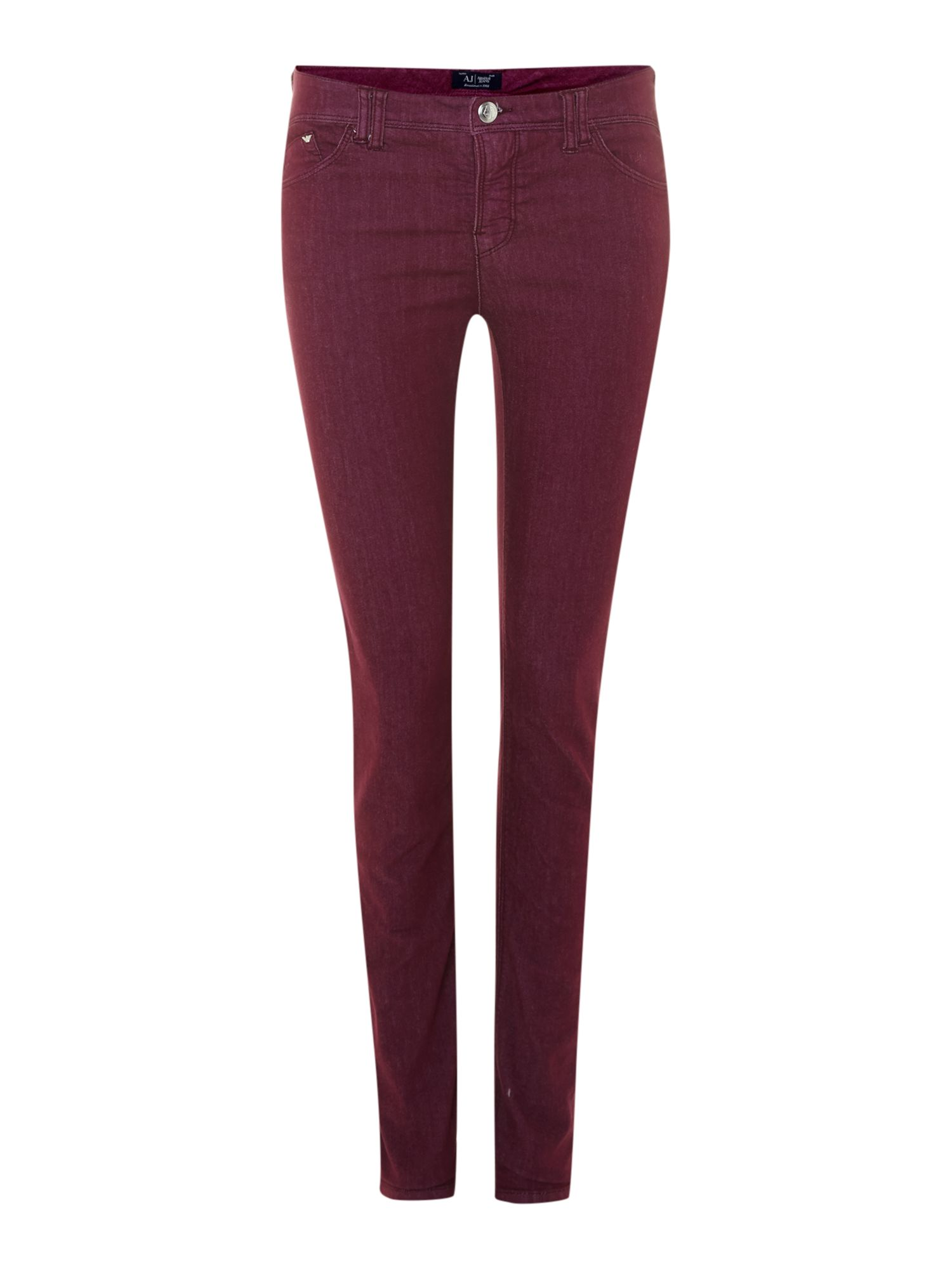J28 mid-rise super skinny coloured jeans