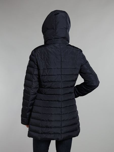 Armani Jeans Long padded jacket with hood