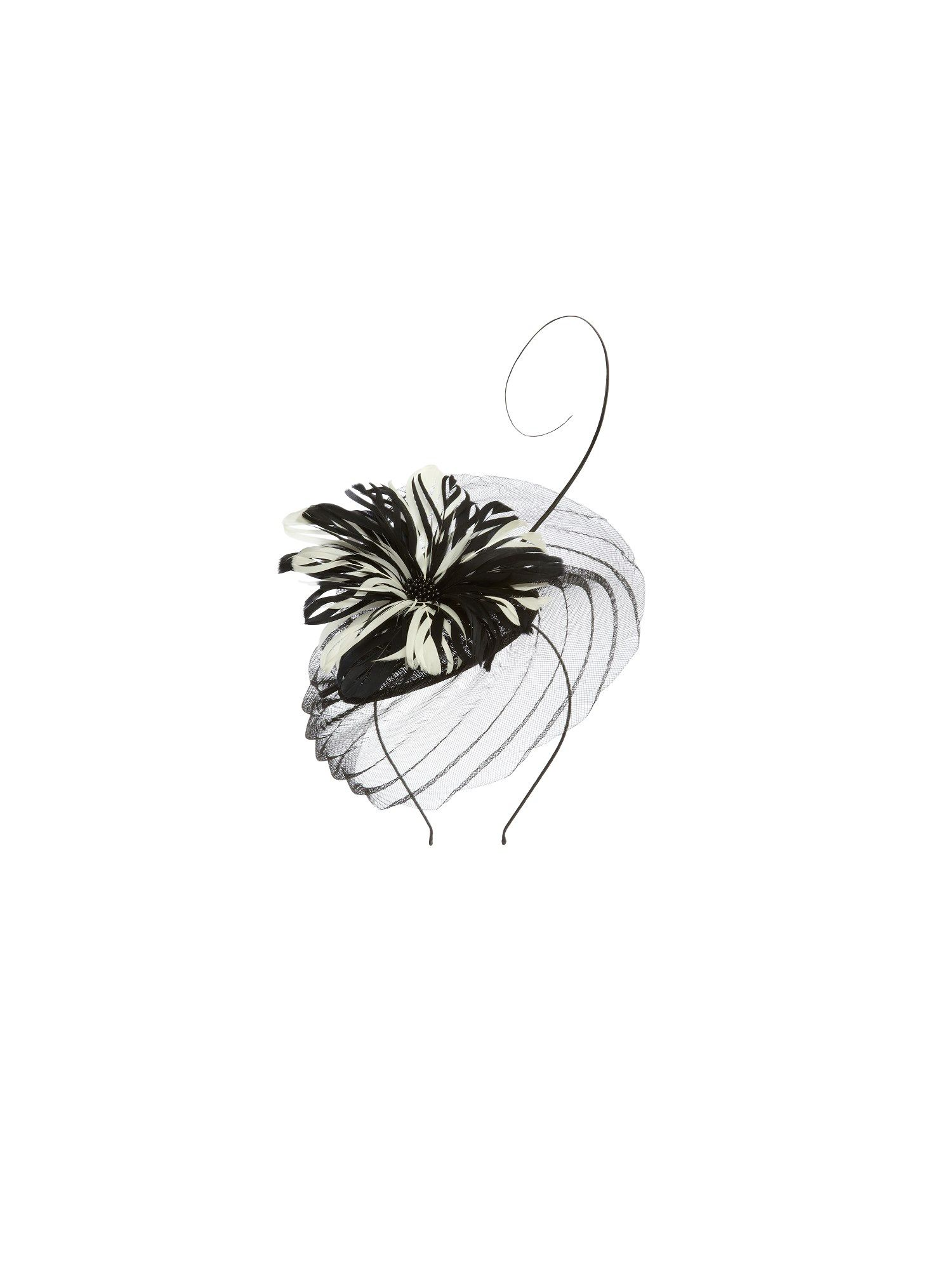 Pearl noir fascinator