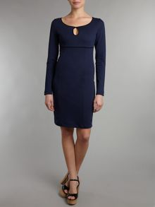 Long sleeve dress with keyhole detail