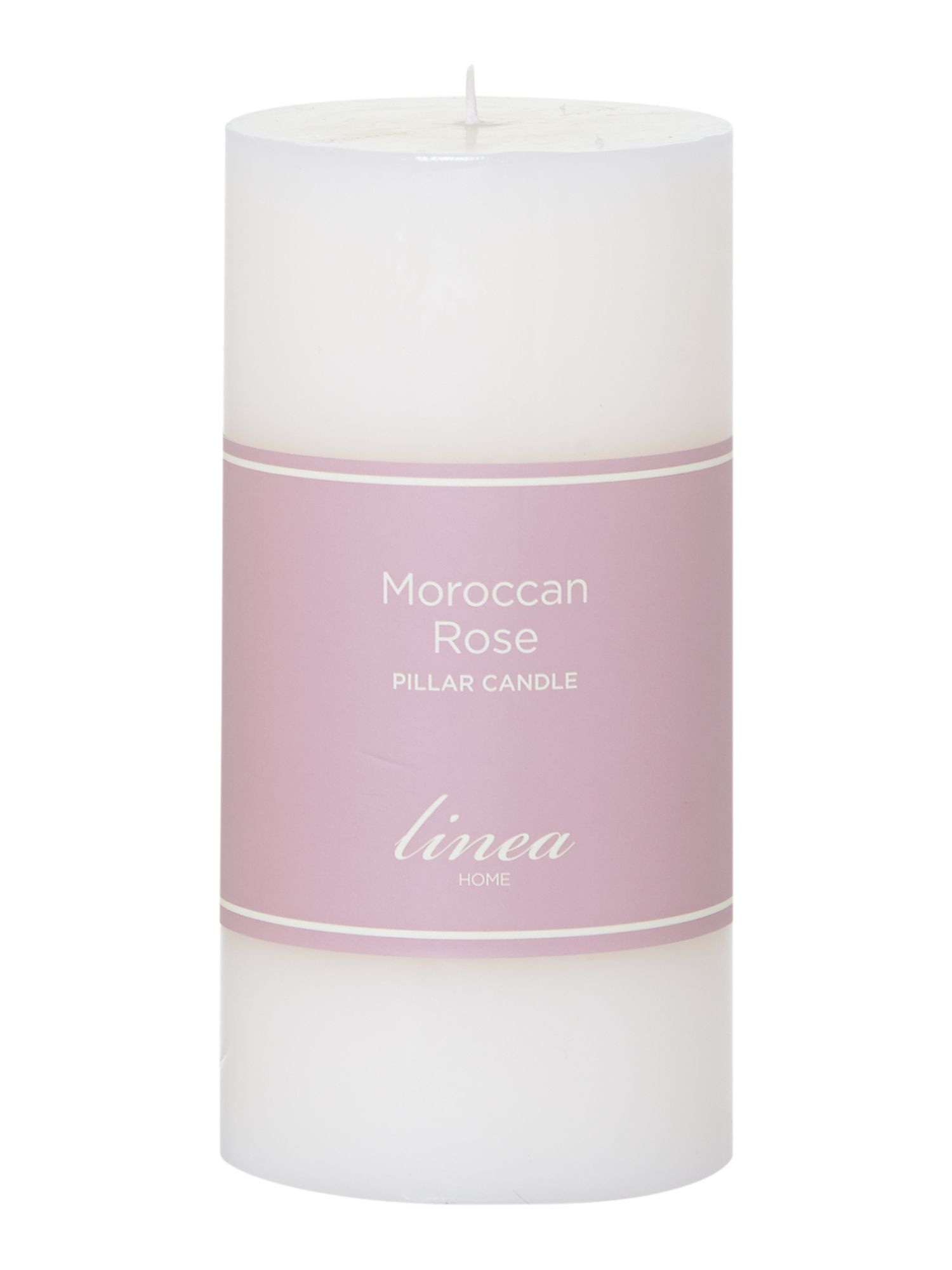 Moroccan rose pillar candle