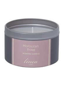 Moroccan rose tin candle