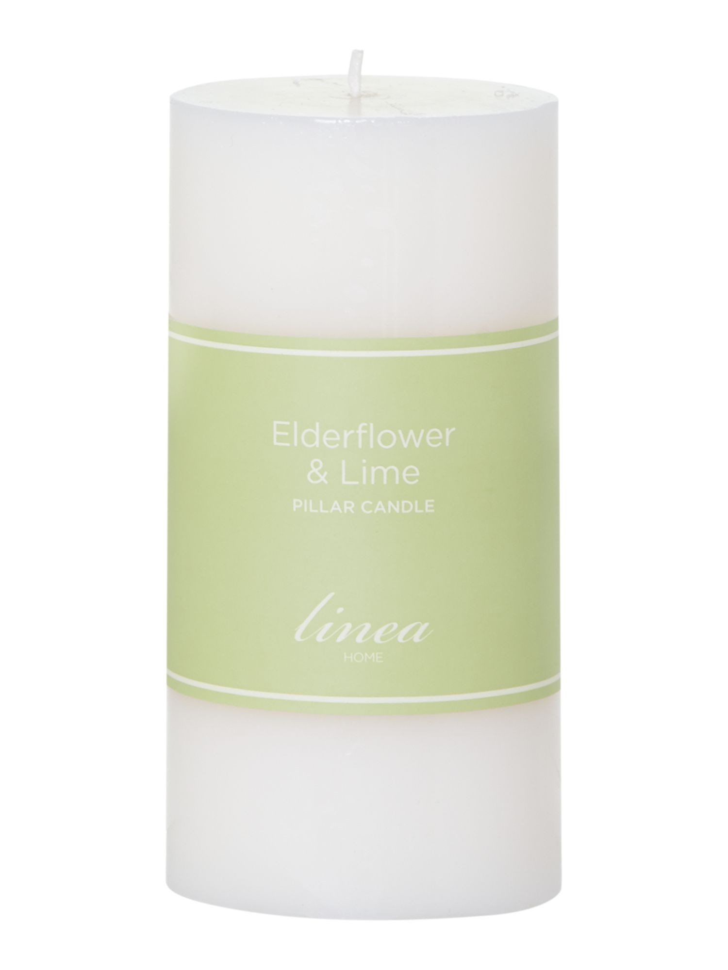 Elderflower & lime pillar candle