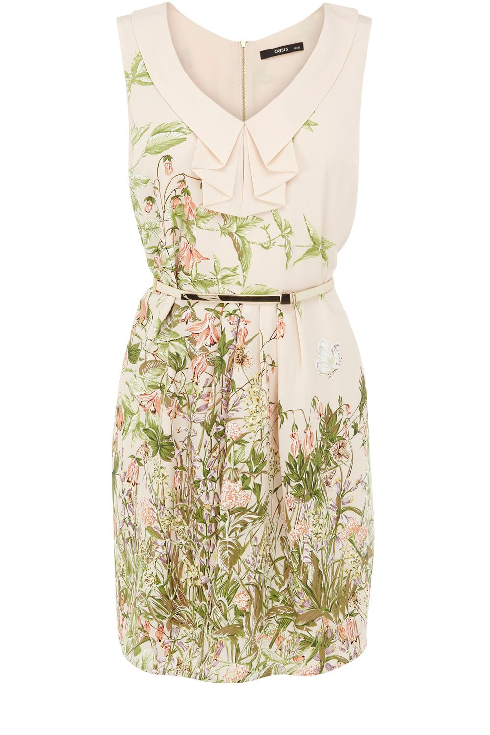 Botanical border dress