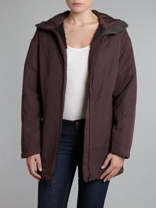 Hooded Funnel Neck Padded Victoria Coat