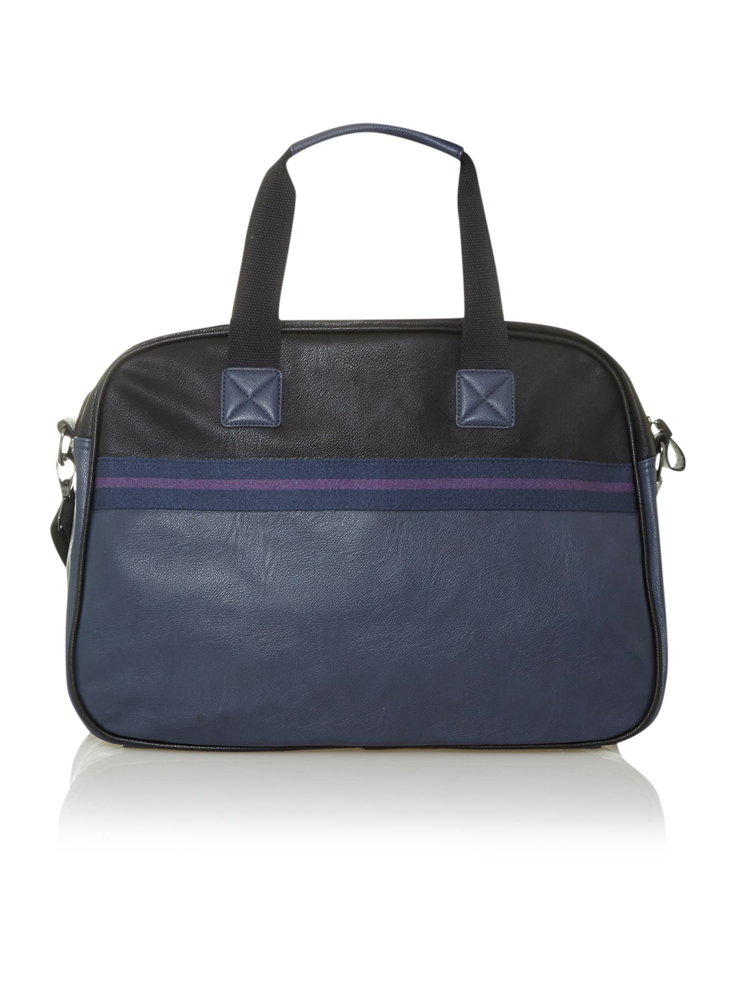 Stripe webbing holdall bag