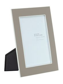 Beige enamel photo frame 5x7