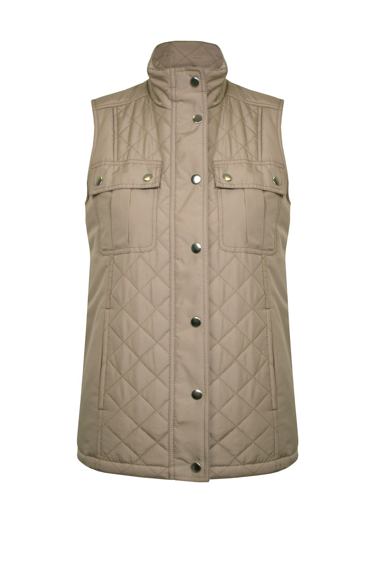 Nylon quilted pocket gilet