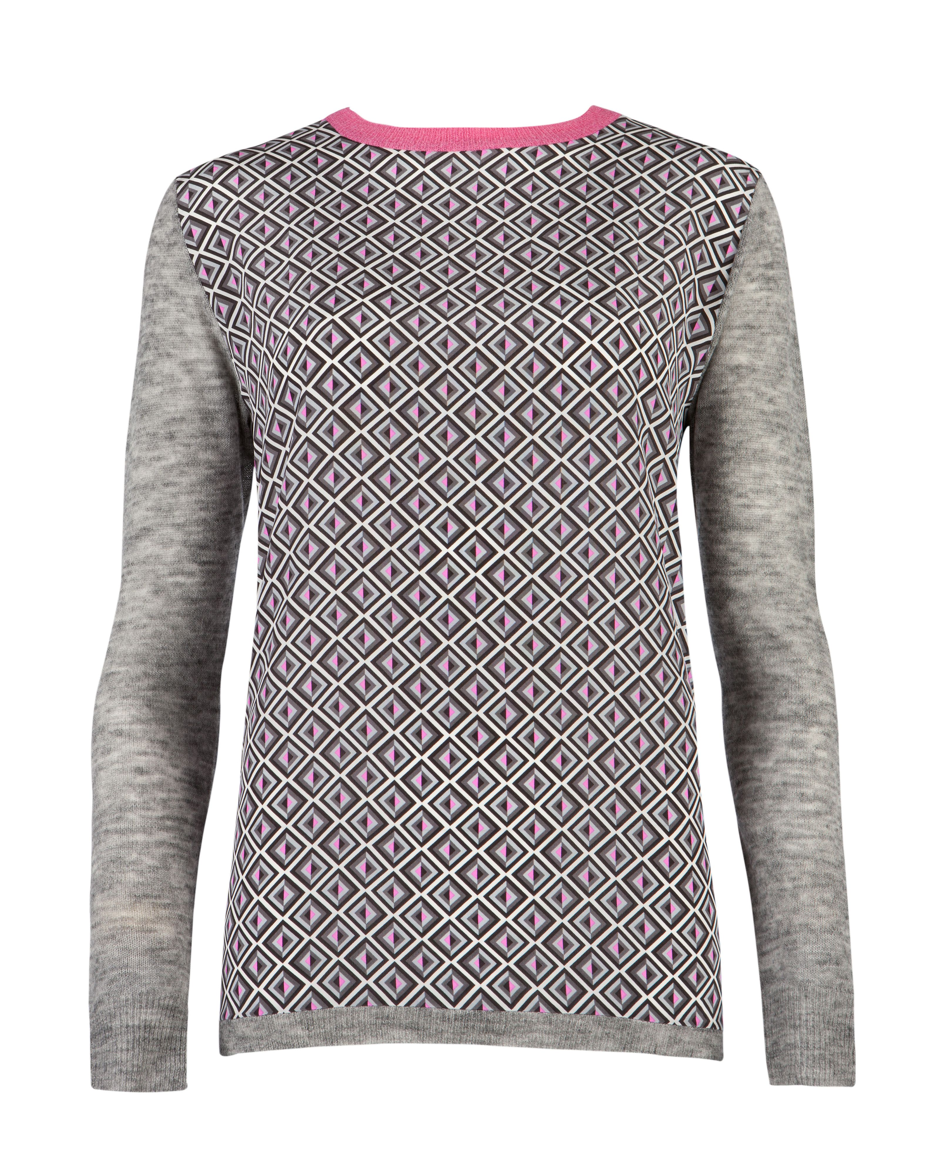 Amberly geo print knit