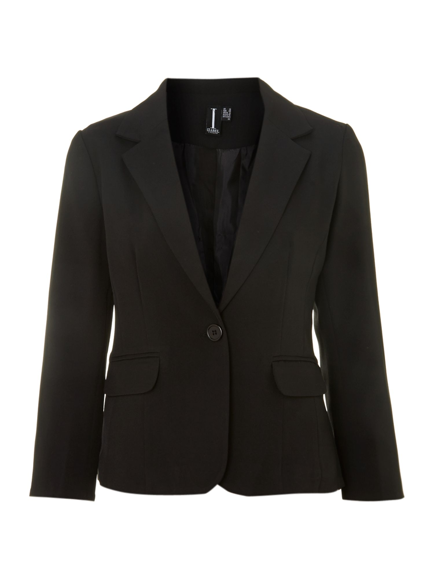 3/4 sleeve button blazer