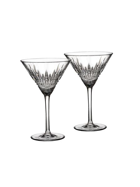 Waterford Lismore diamond martini, set of 2