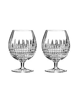 Waterford Lismore diamond brandy, set of 2