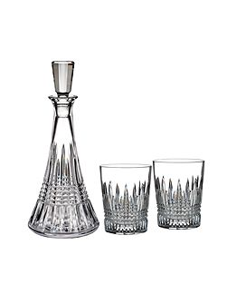Waterford Lismore diamond decanter and glasses gift set