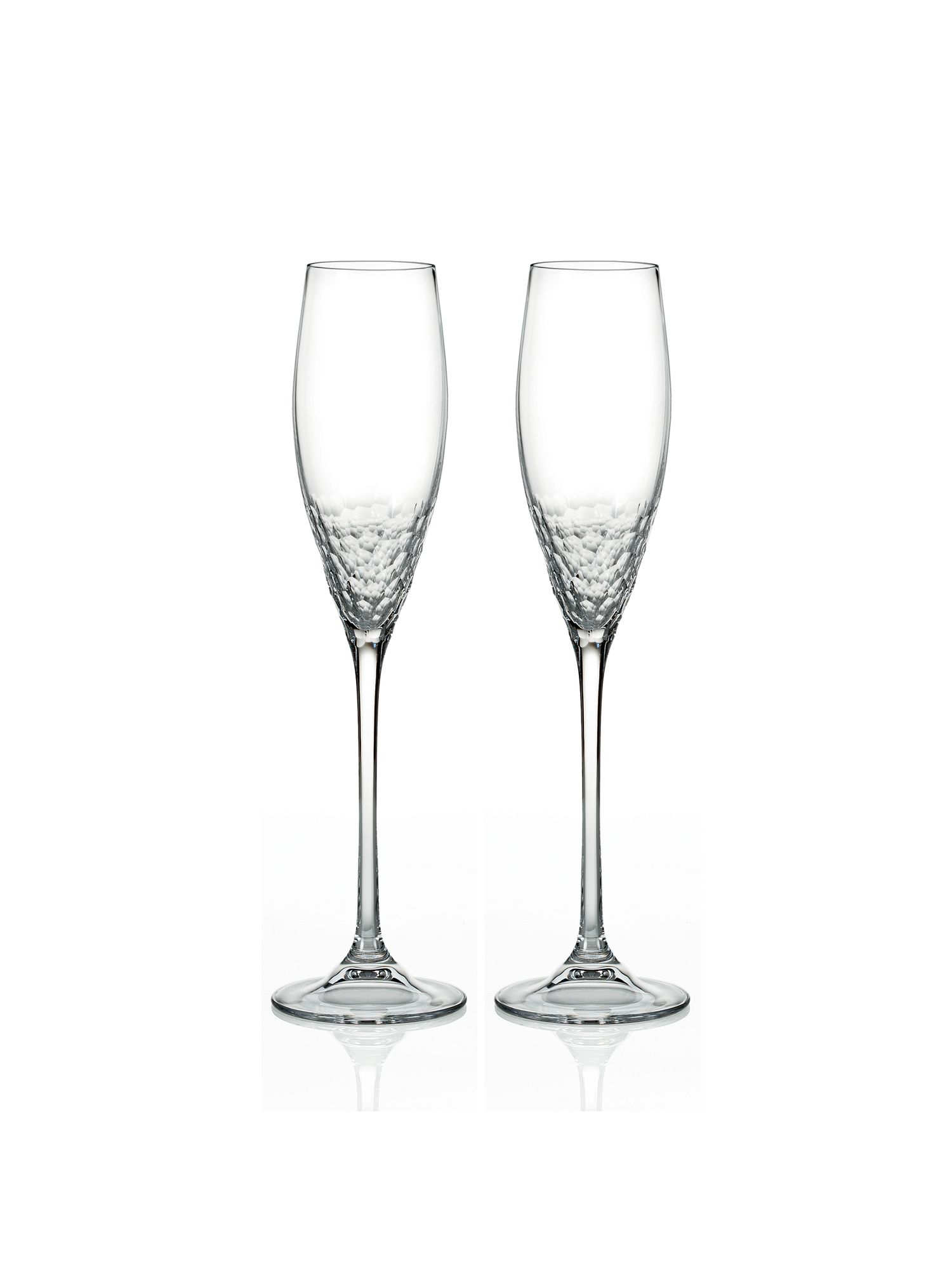 Sequin flute glass, set of 2