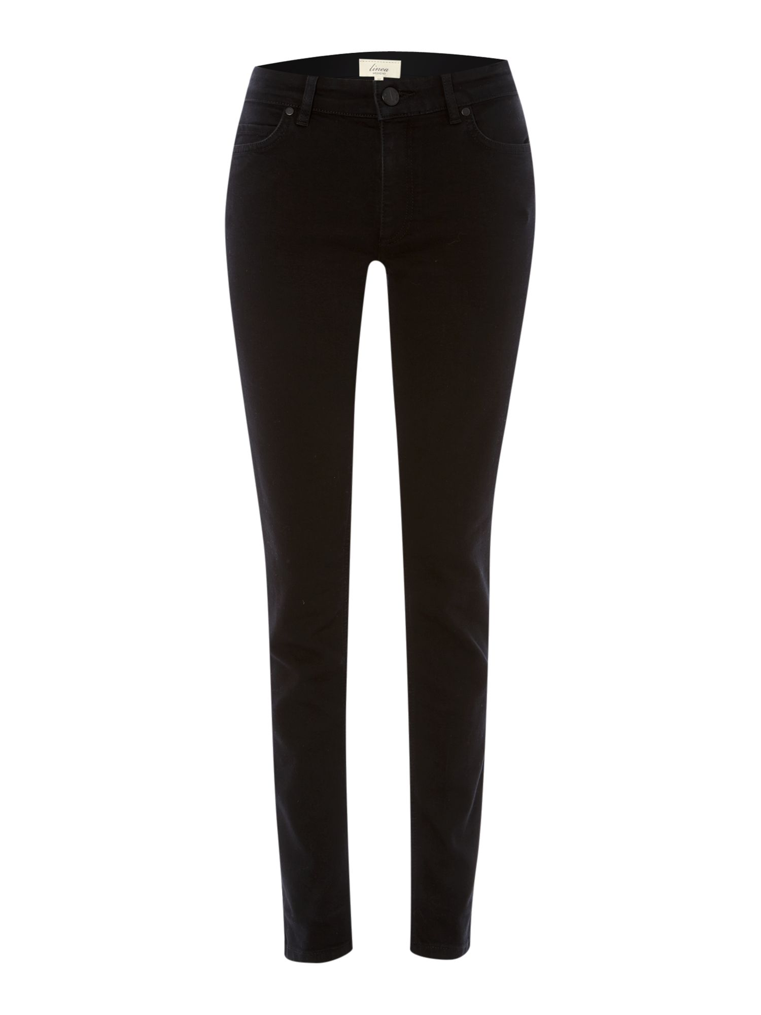 Ladies black slim leg jeans