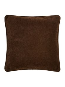 Chocolate chenille cushion