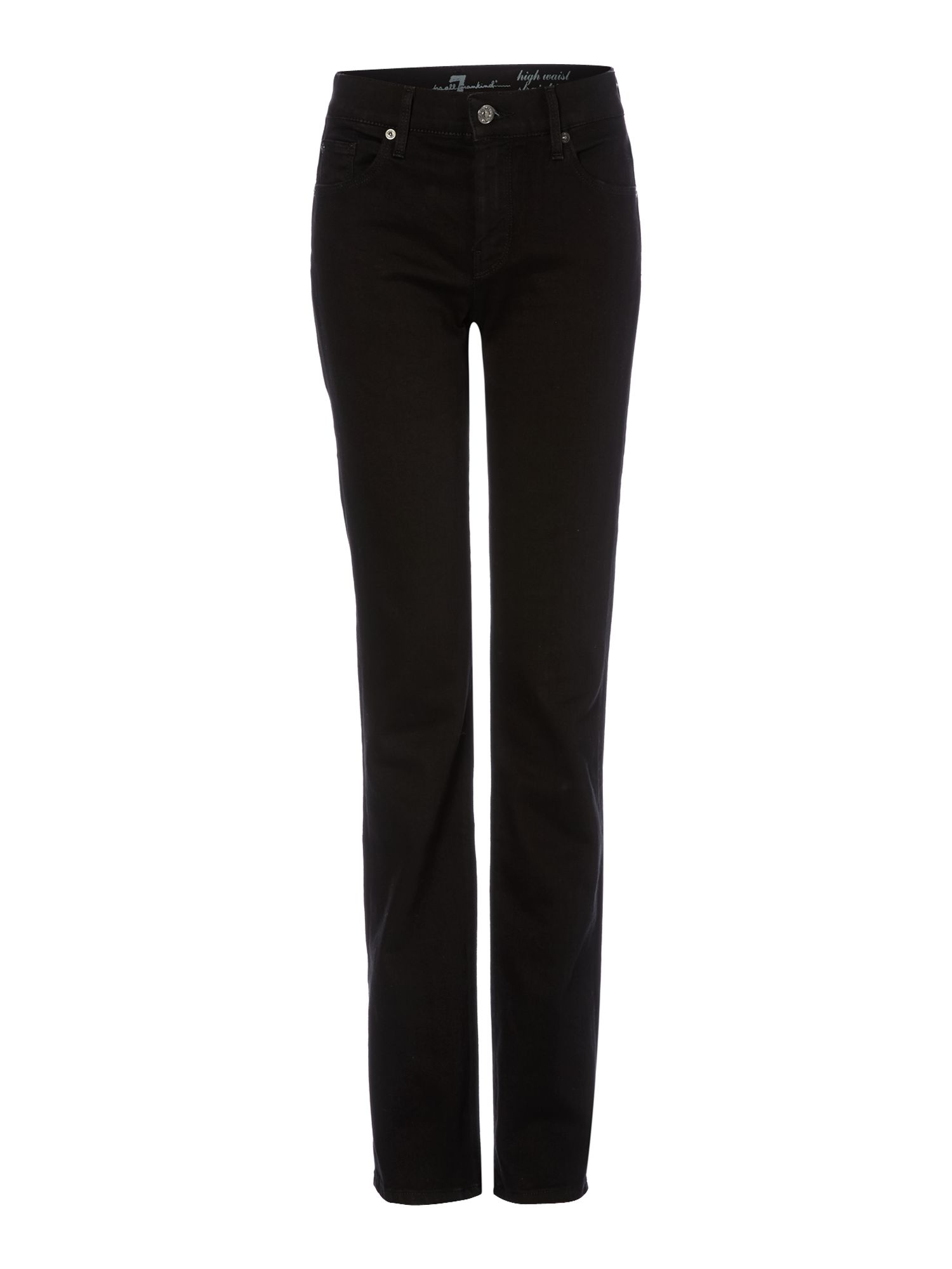 High waist straight leg jeans in Portland Black