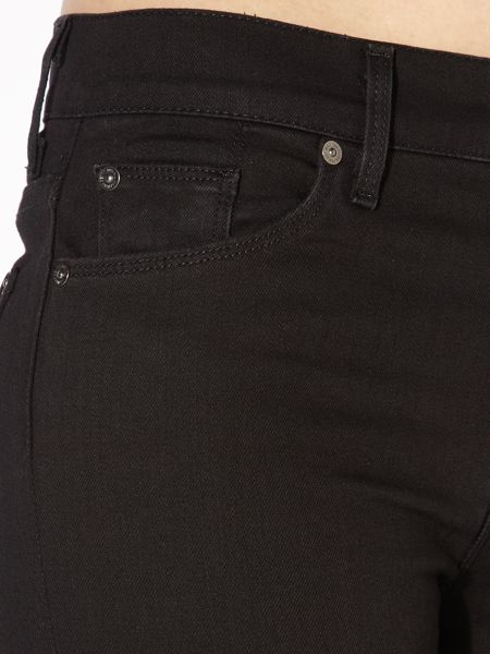 7 For All Mankind High waist straight leg jeans in Portland Black