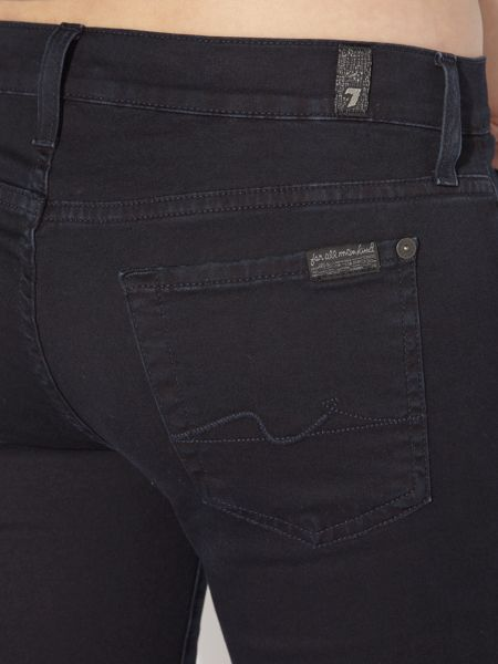 7 For All Mankind The Skinny gummy jeans in Blue Black