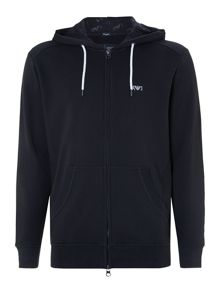 Small Aj Logo Zip Through Hoodie