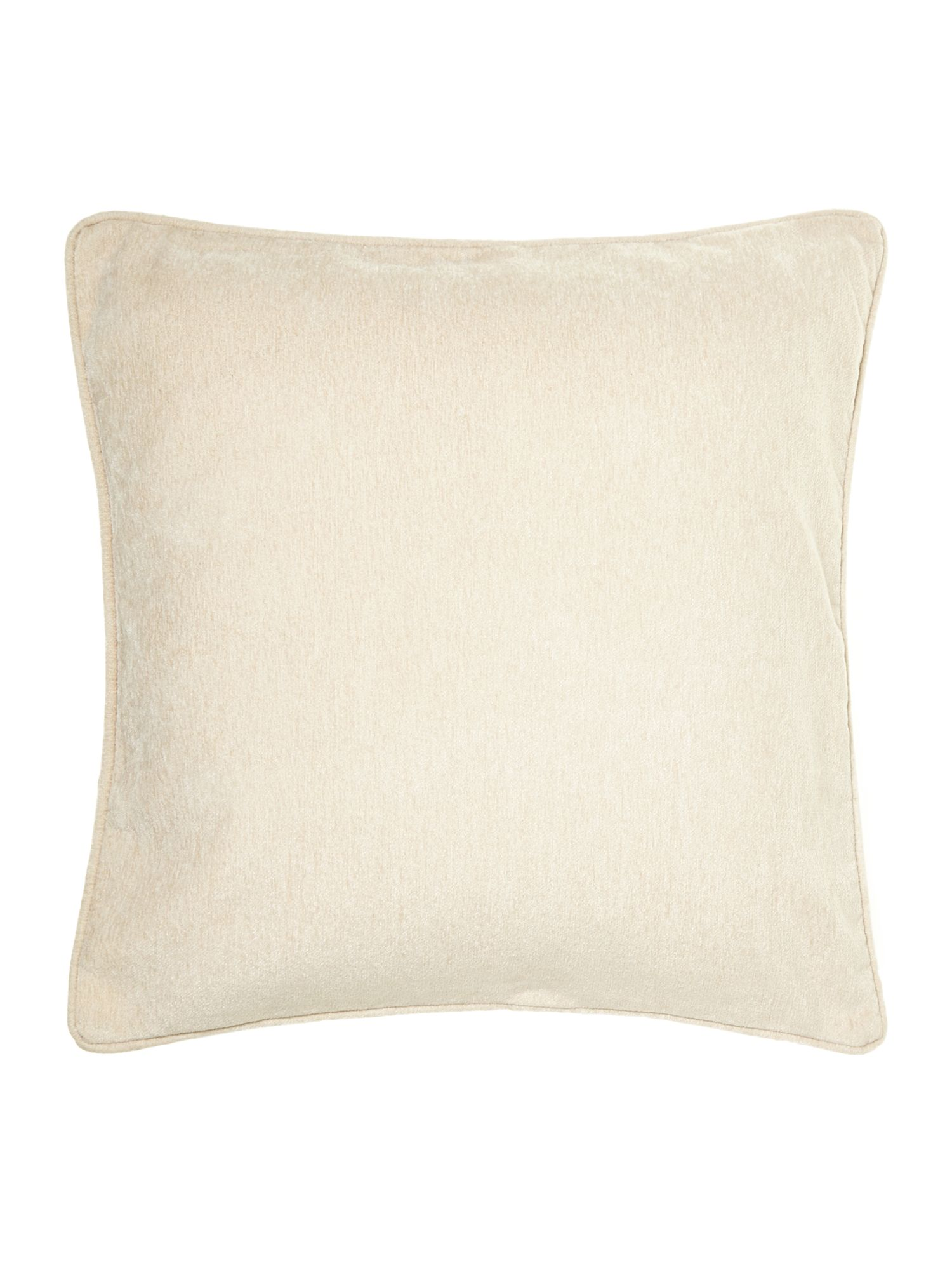 Cream chenille cushion