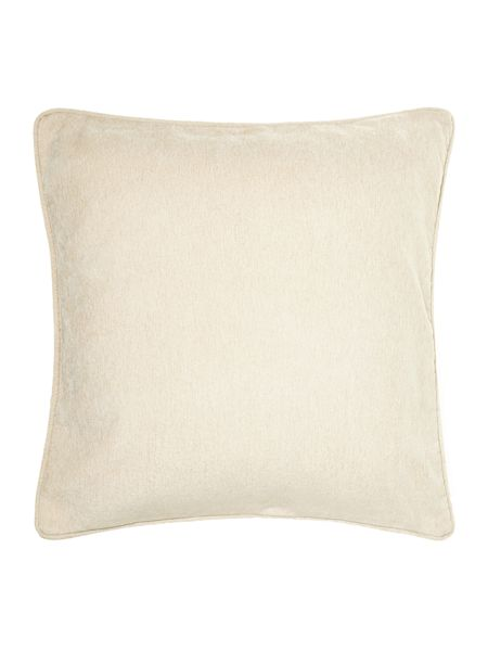 Linea Cream chenille cushion