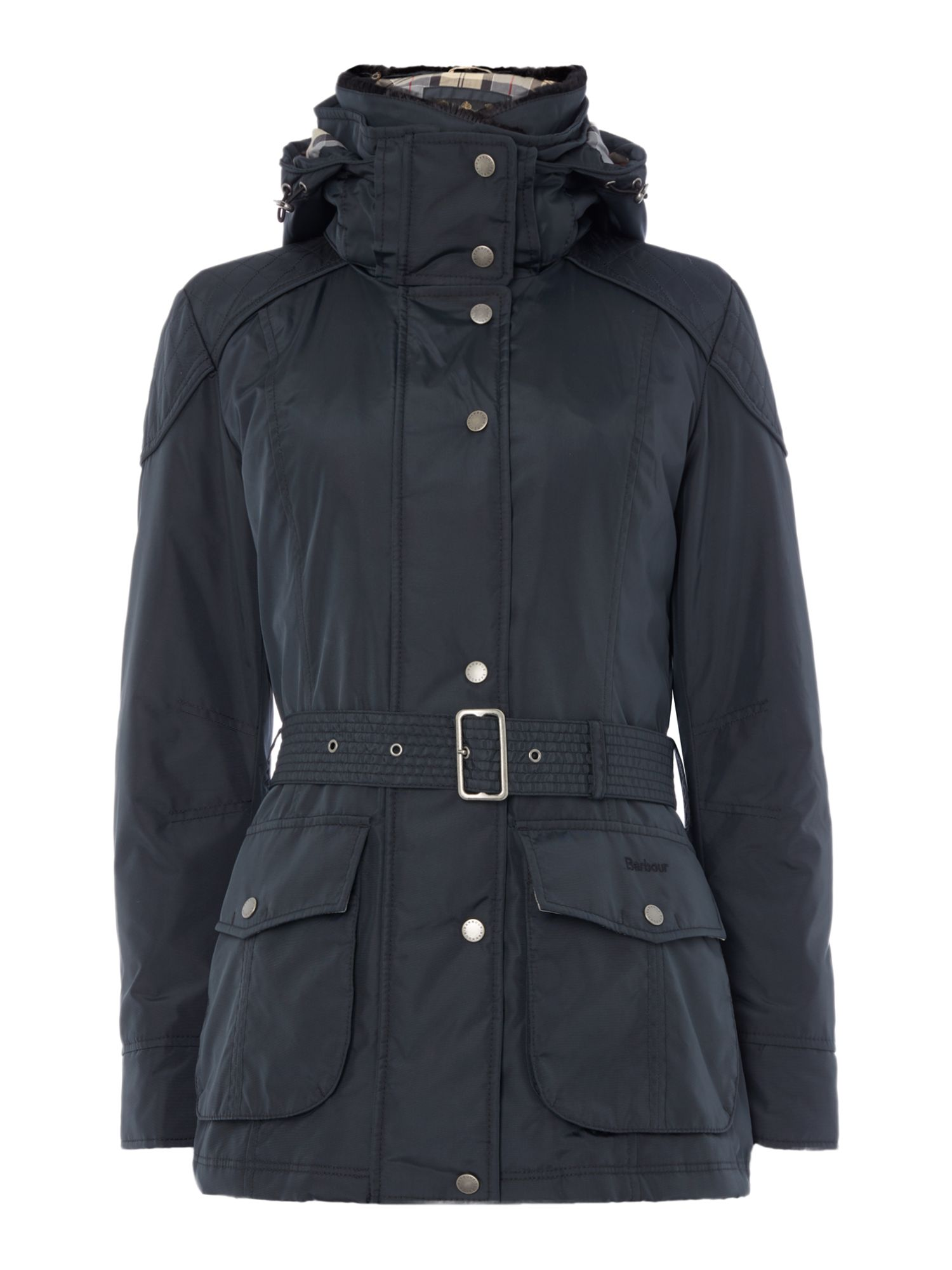 Barbour Outlaw Belted Jacket, Blue