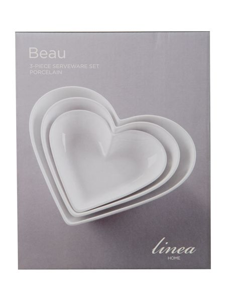 Beau heart set of 3 nesting bowls