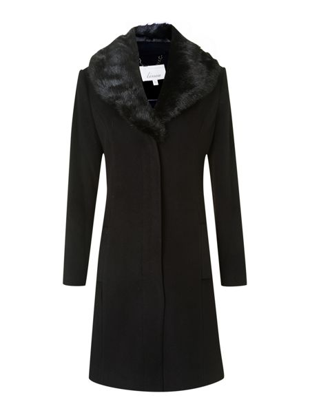 Linea Cashmere blend skirted shawl coat