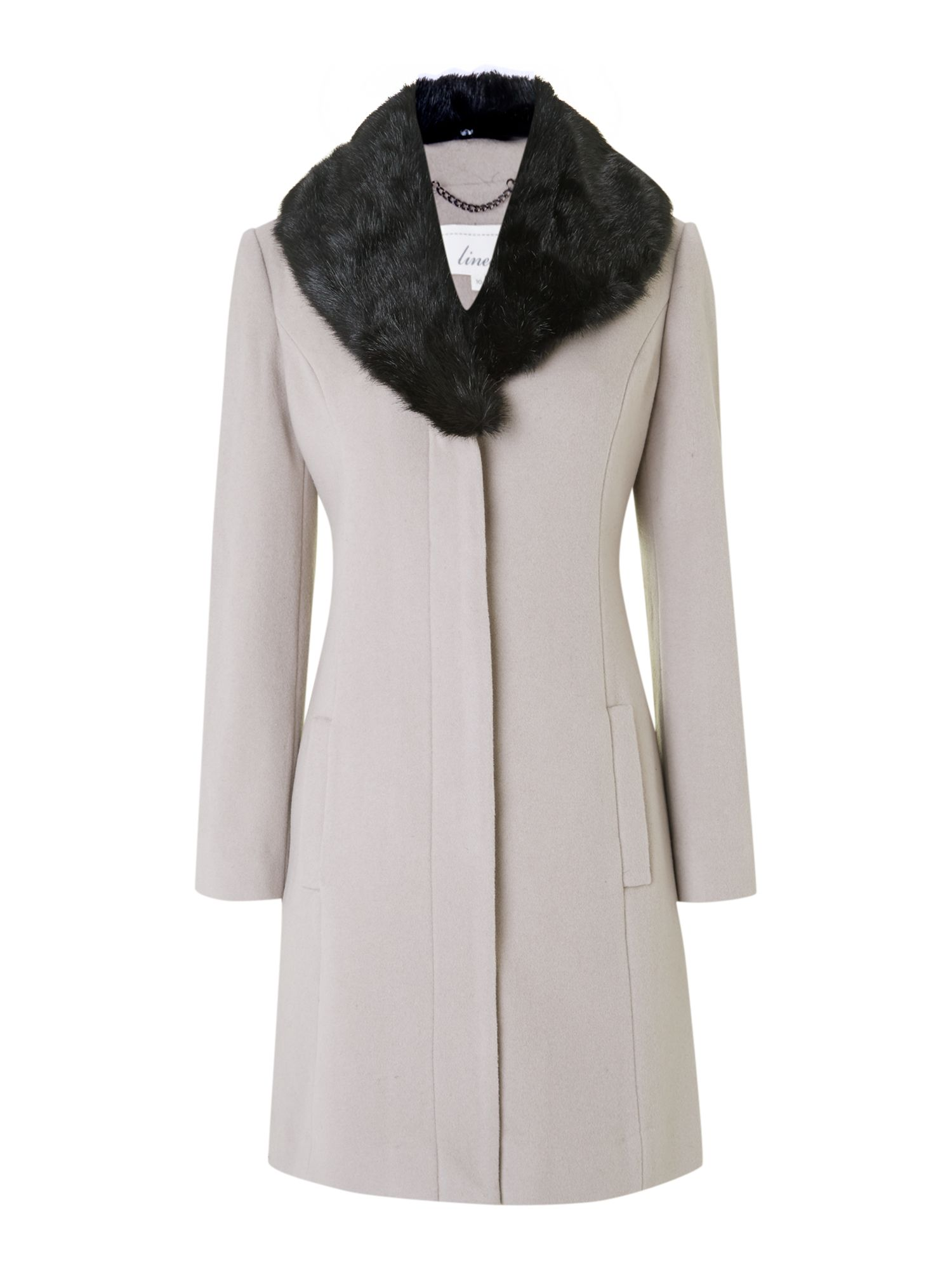 Cashmere blend skirted shawl coat