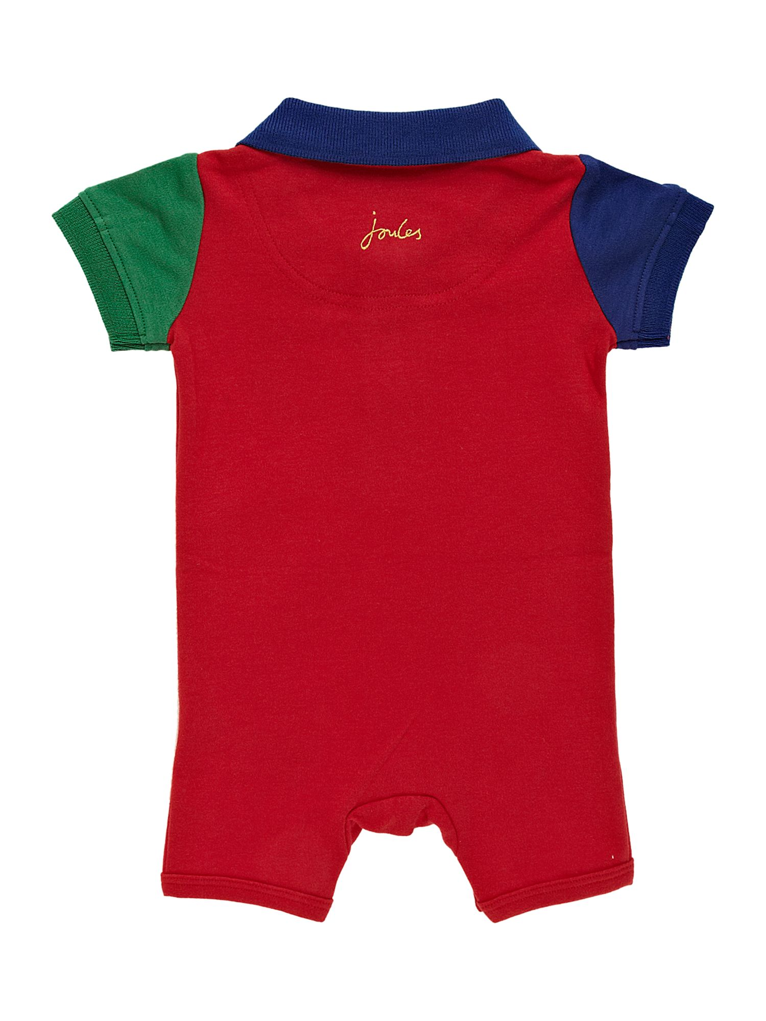Baby boy`s all-in-one polo shirt