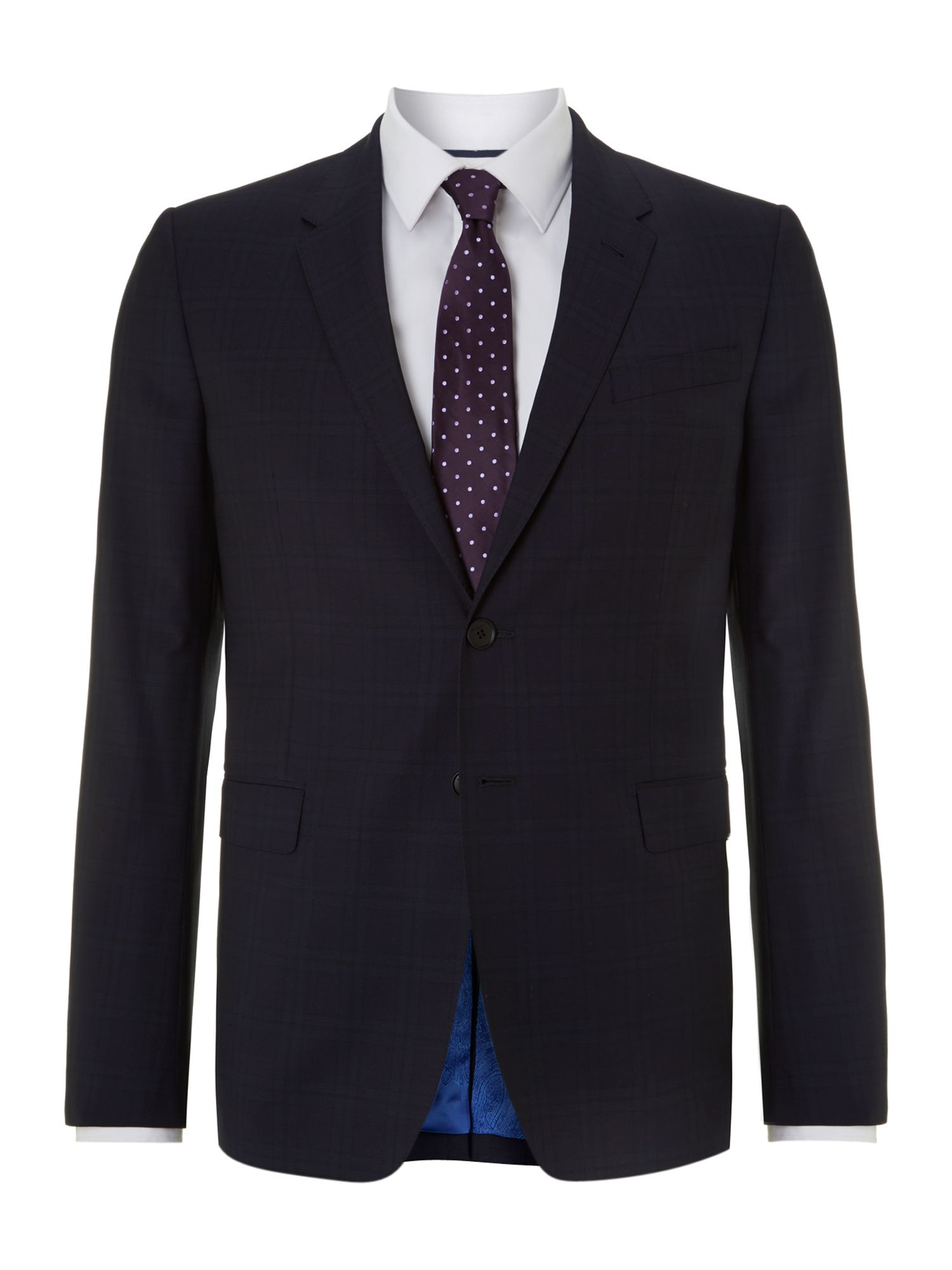 Byard shadow check slim fit suit