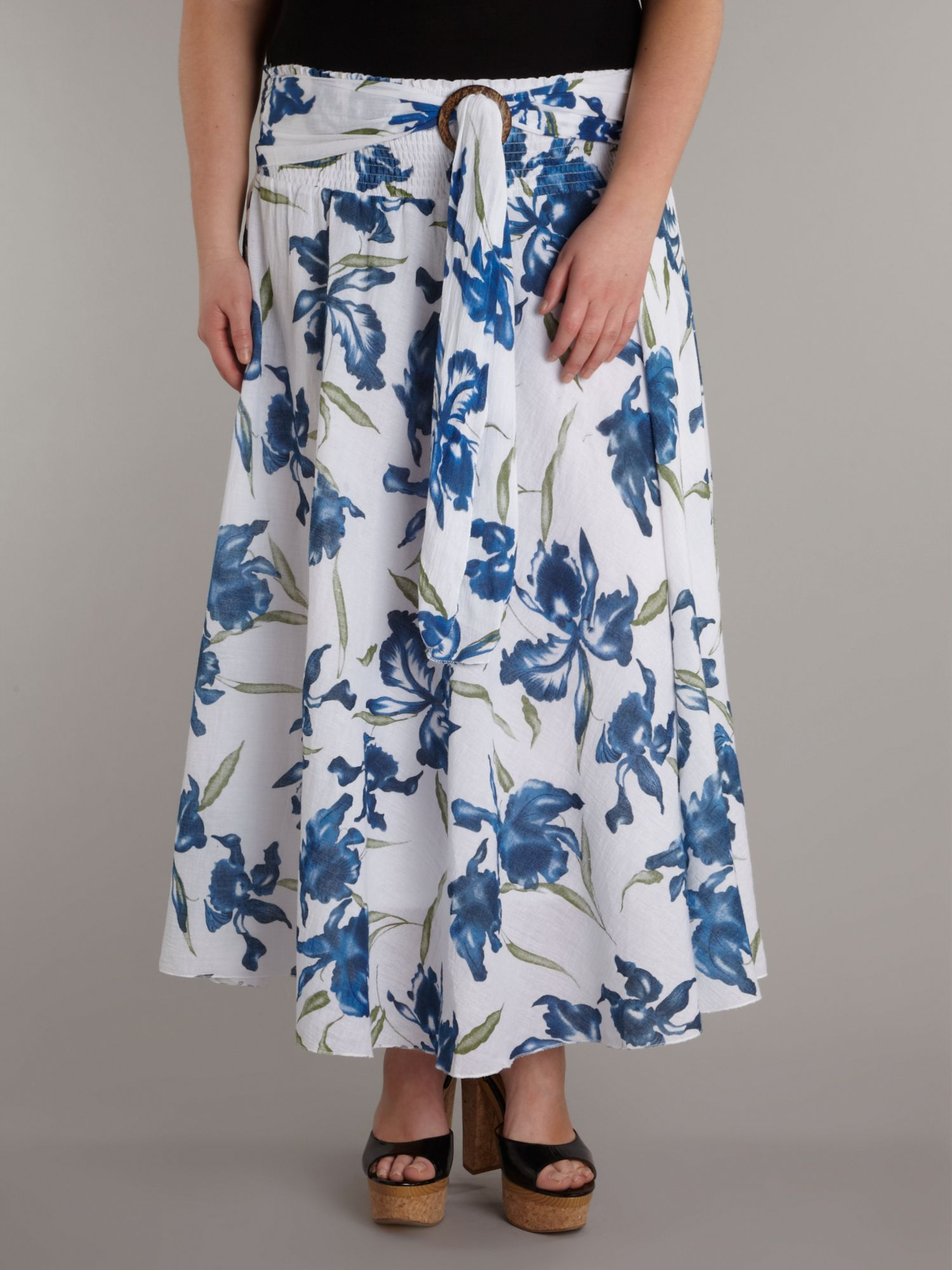 Full length print skirt