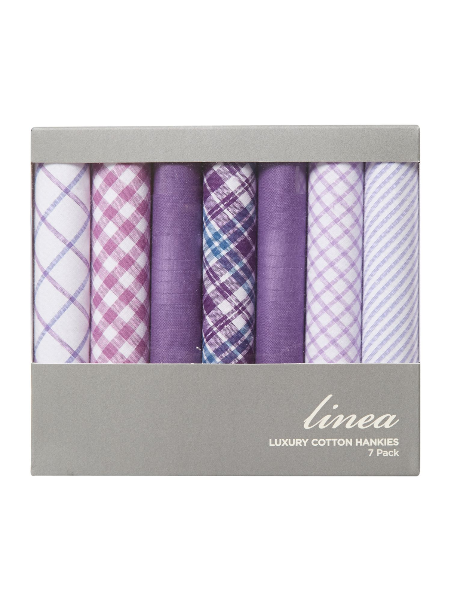 7 pack purple multi hankies