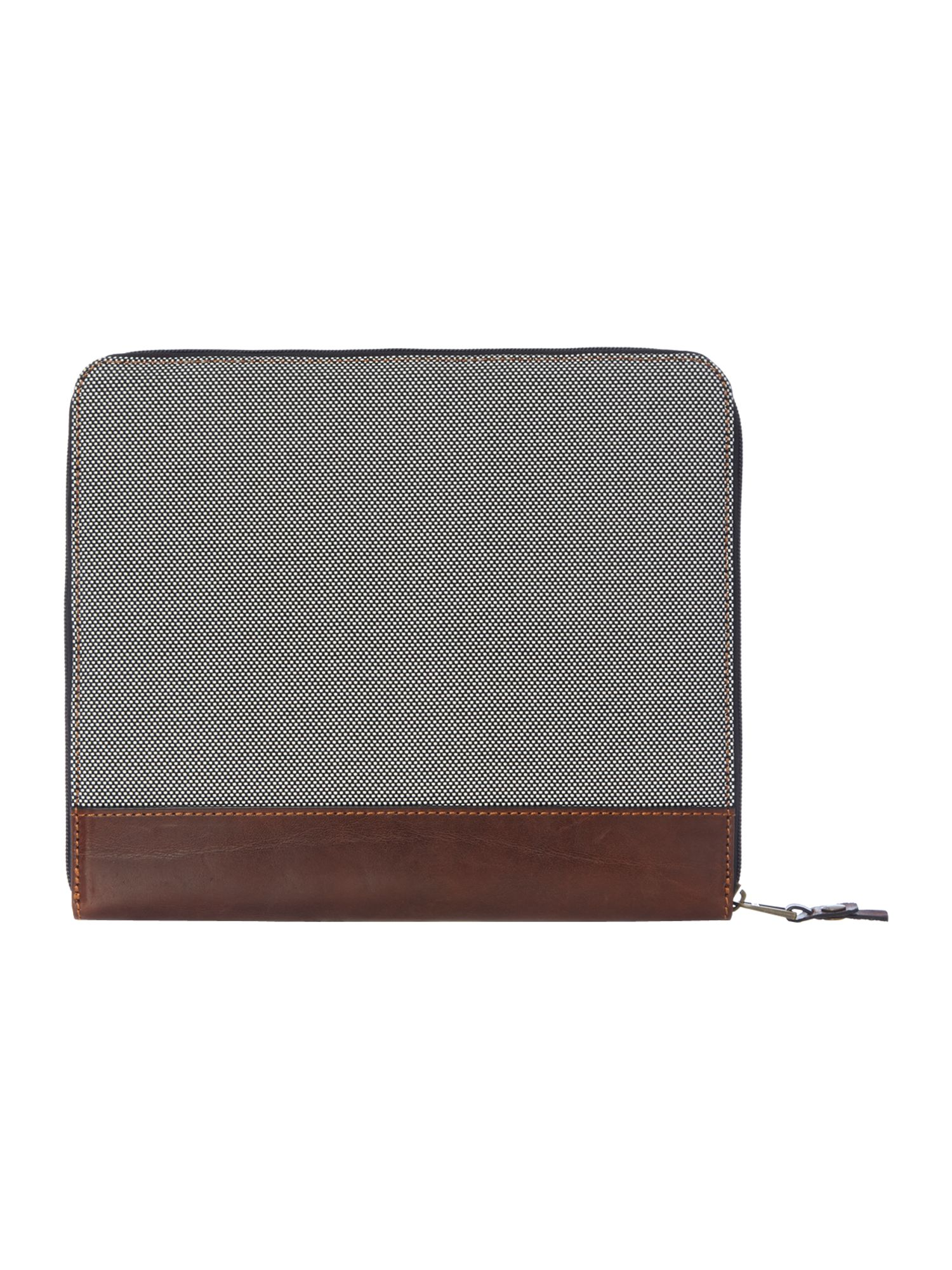Nylon leather mix tablet case