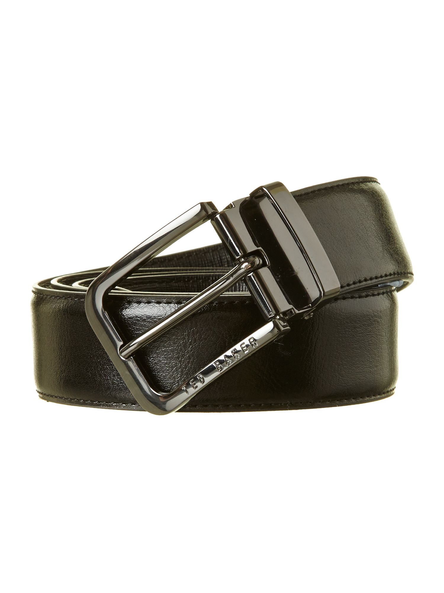 Reversible cross boxed belt