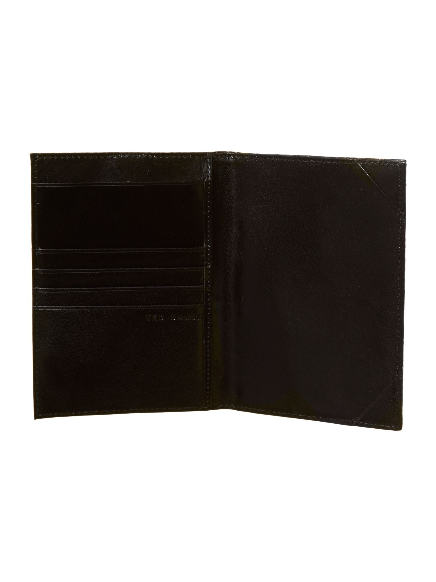 Woven leather passport and money clip gift set