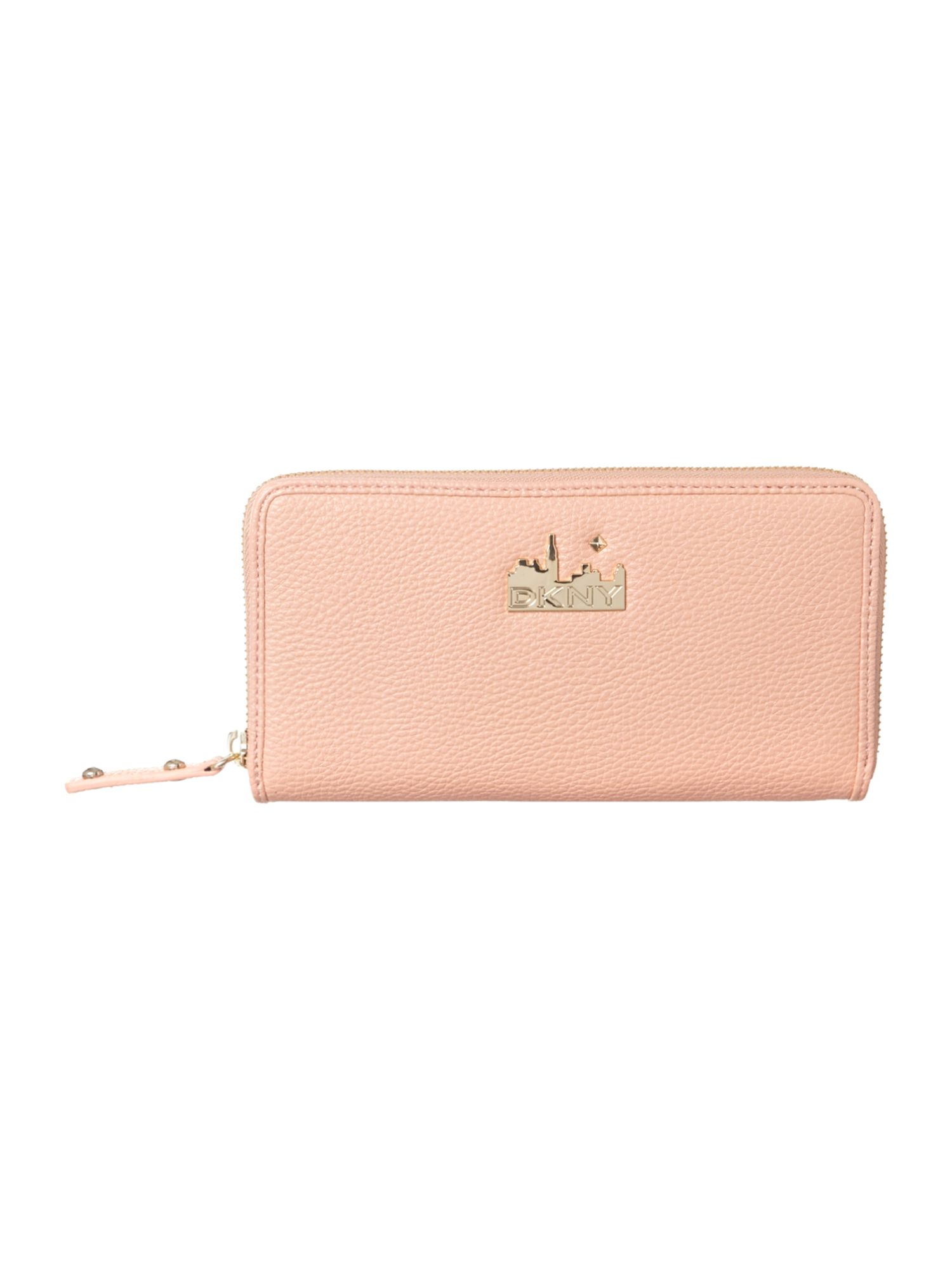 Pink large zip around purse