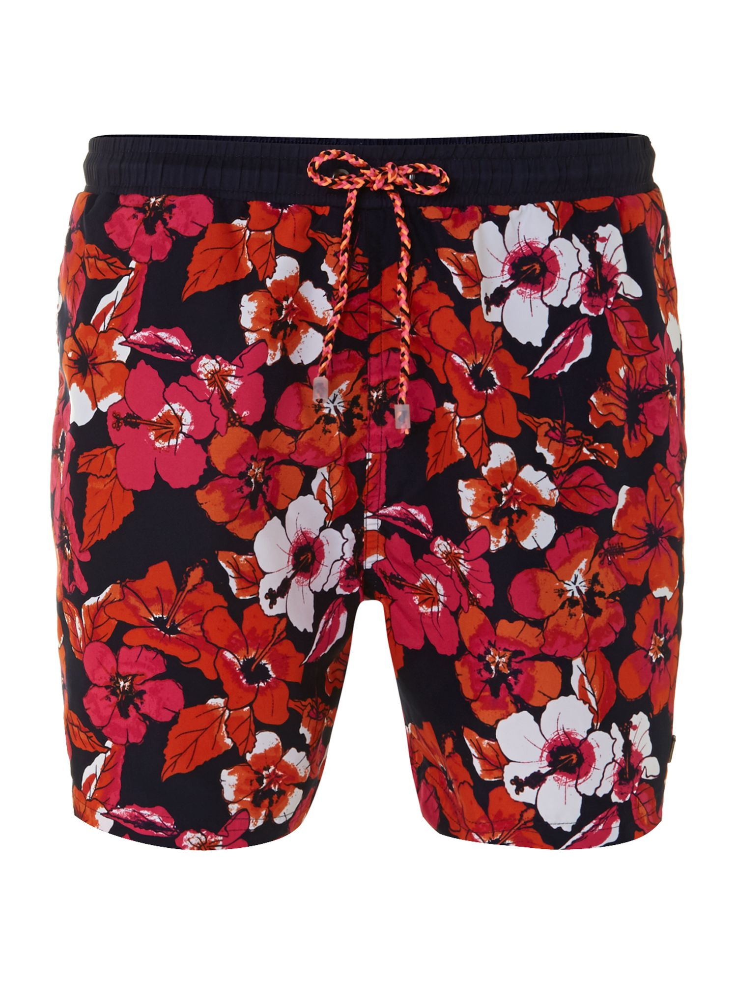 Piranha floral print swim trunk