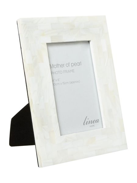 Linea Mother of pearl photo frame 4x6